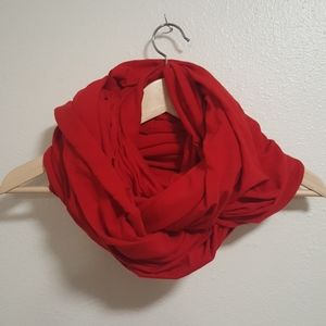 American apparel circle scarf hooded red
